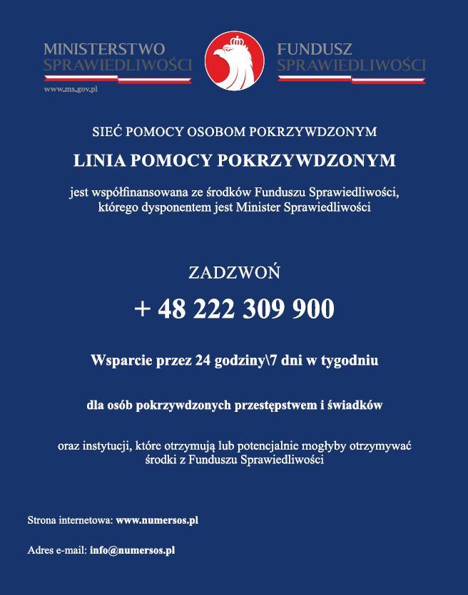 Sieć Pomocy Osobom Pokrzywdzonym - Komunikaty - Policja Podkarpacka