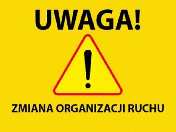 znak ostrzegawczy zmiana organizacji ruchu