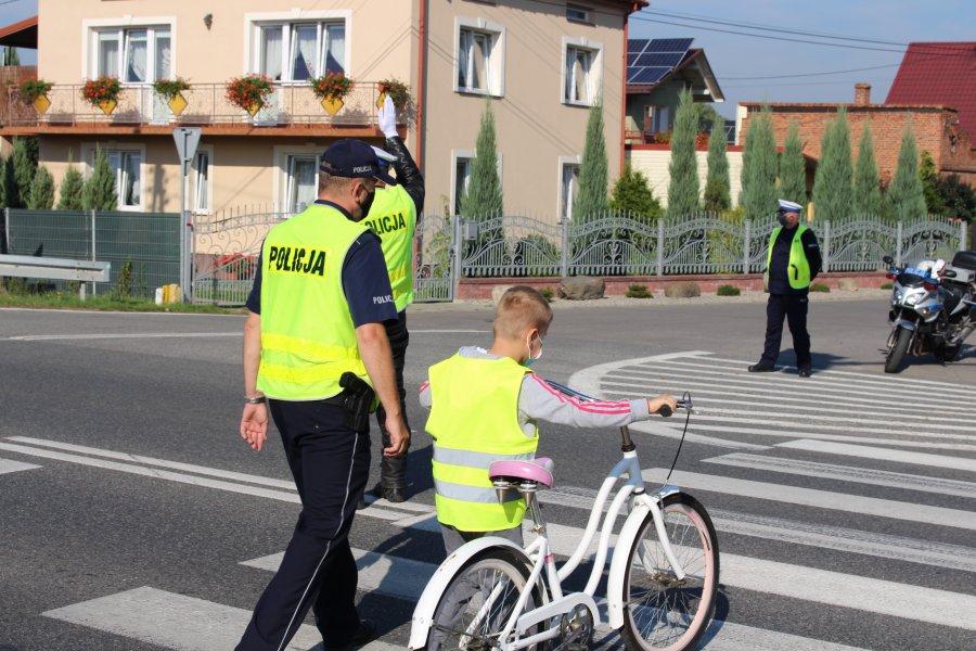 Policjanci podczas działań