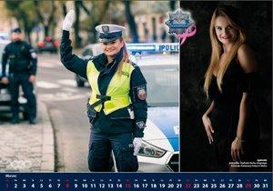 Strona policyjnego kalendarza
